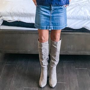Knee high suede Bamboo boots